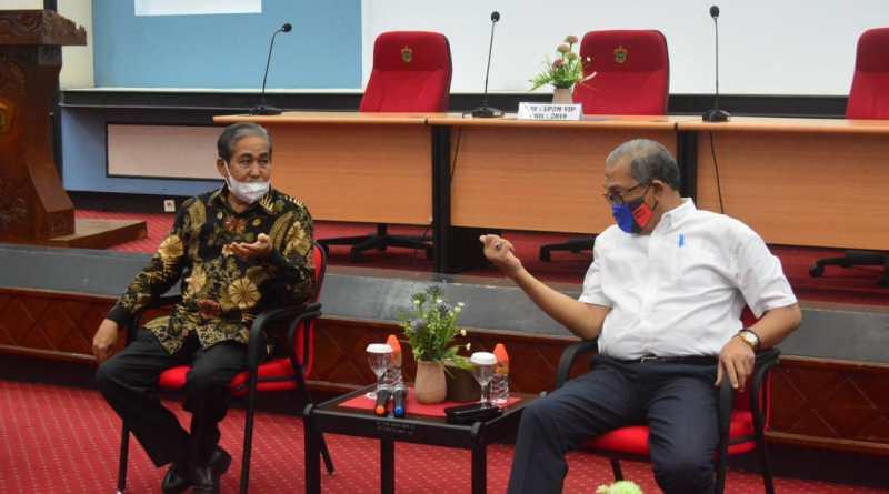 Bahas Pengembangan Potensi Daerah, Bupati Sidrap Temui Ketua LP2M Unhas
