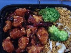 General Tso's Chicken Combination Platter