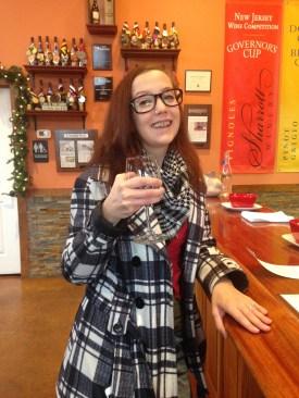 Wine tasting at Sharrott Winery.