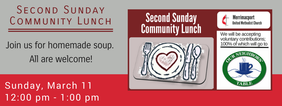 Second Sunday Community Lunch March 2018