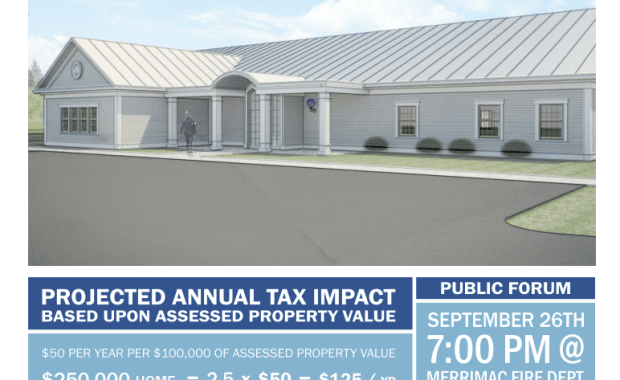Merrimac Residents Invited to Attend Public Forum On New Police Station Proposal