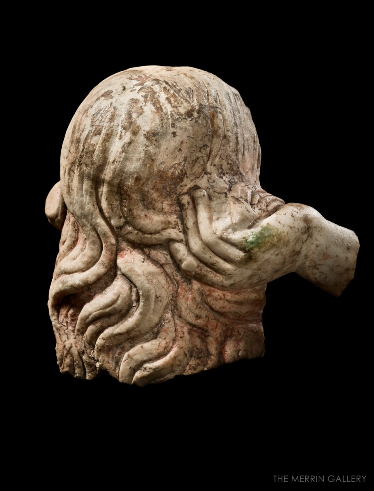 head of aphrodite anadyomene back