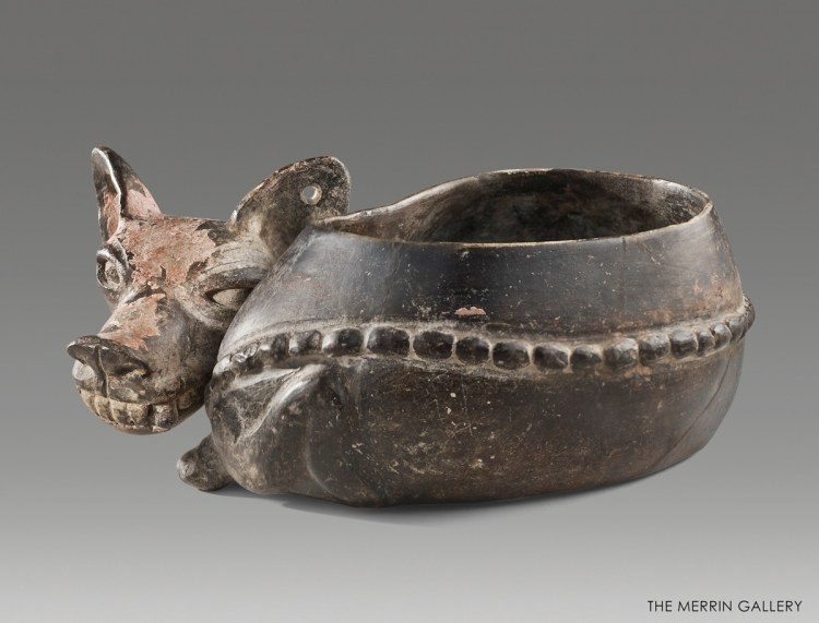 bowl in the shape of a dog