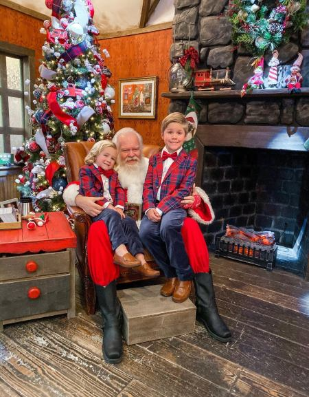 BOY OUTFITS WITH SANTA PICTURE