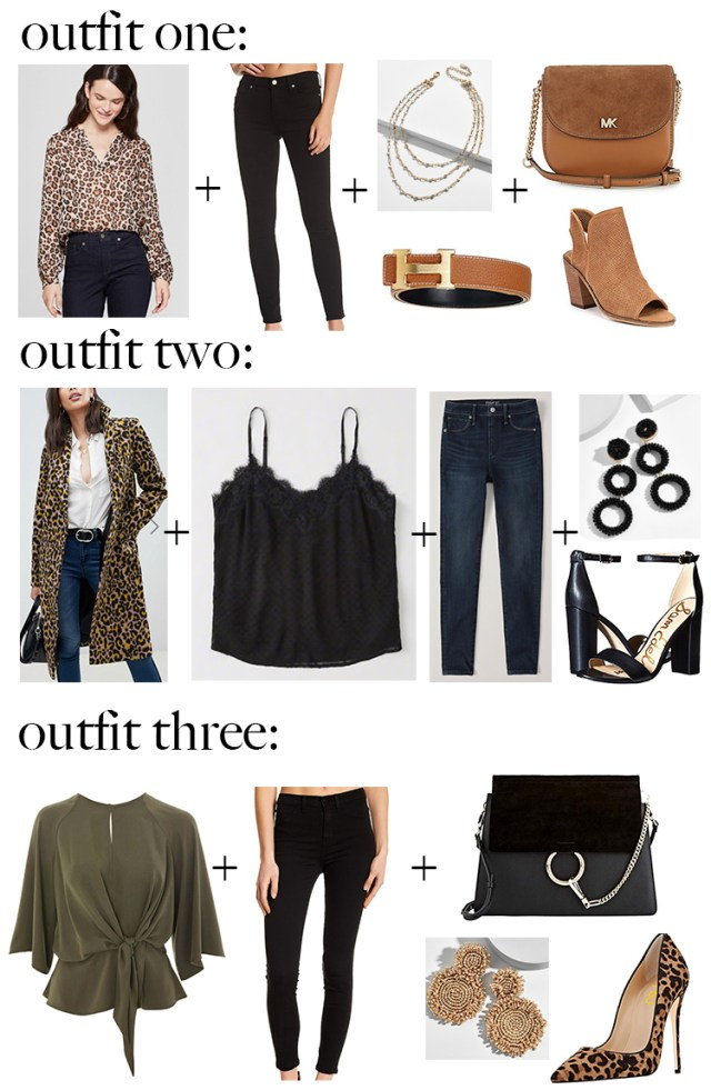 styled outfits hermes dupe belt leopard print