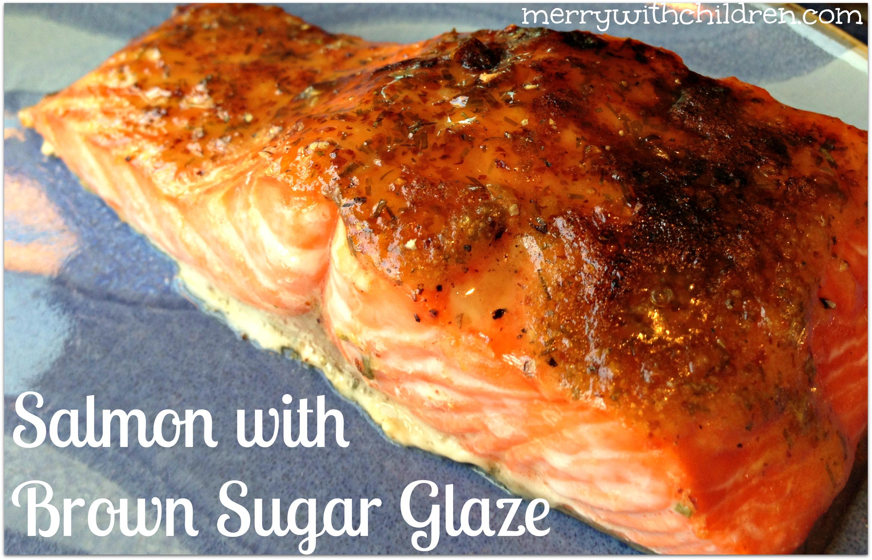 Salmon With Brown Sugar And Mustard Glaze Recipe  Dishmaps