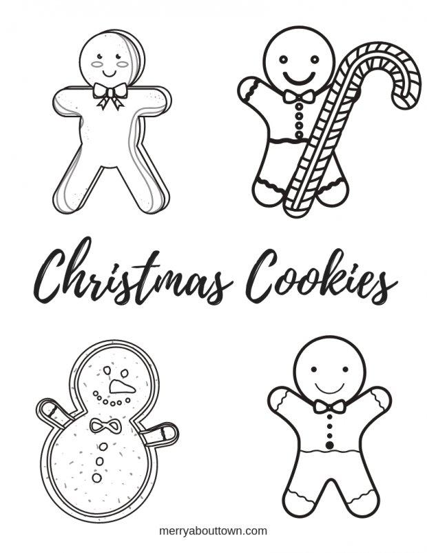 Christmas Printables: Cookies Wordsearch & Coloring Sheet