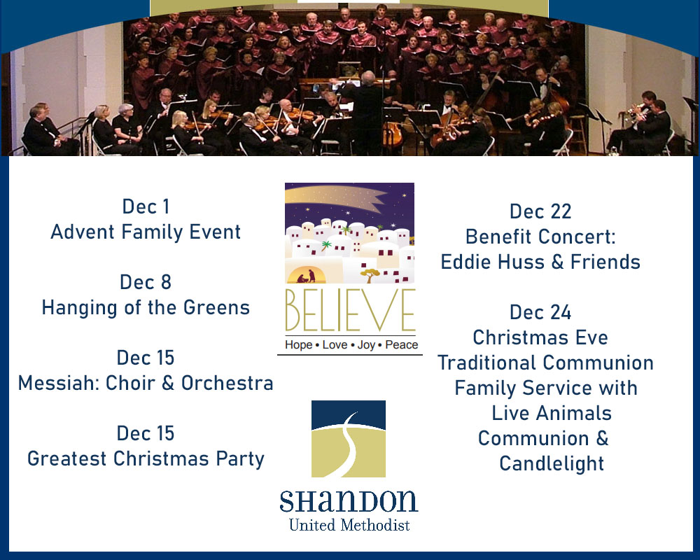 Shandon UMC Merry Christmas ad 2019