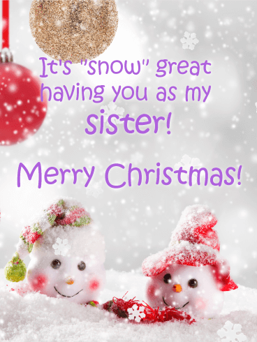 merry christmas images for sisters