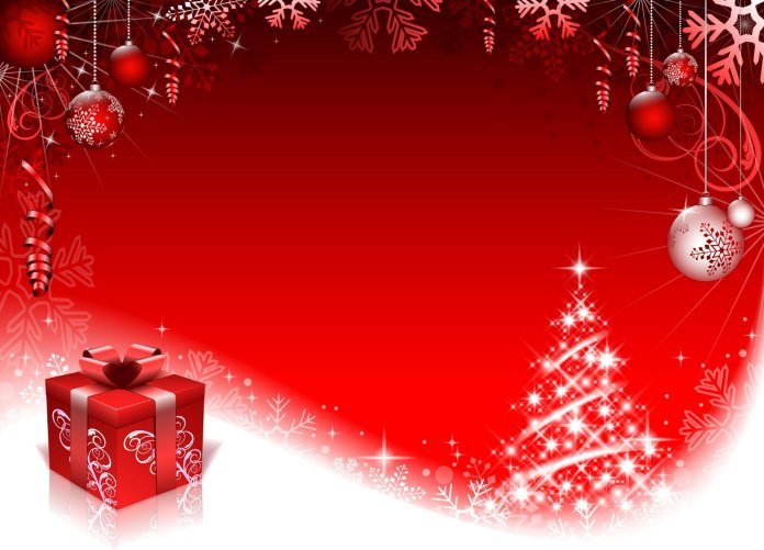 Red Background For Christmas Day 2018