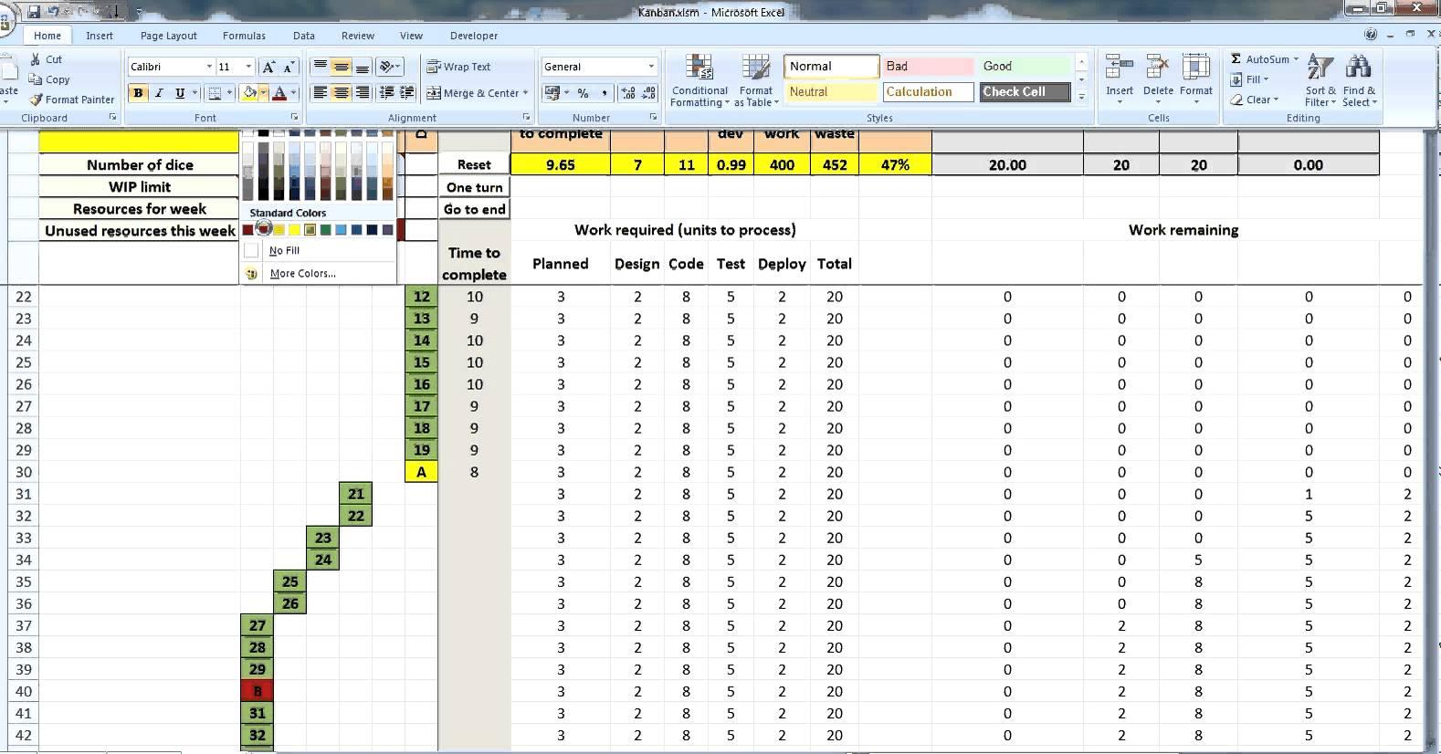 Kanban Excel Template