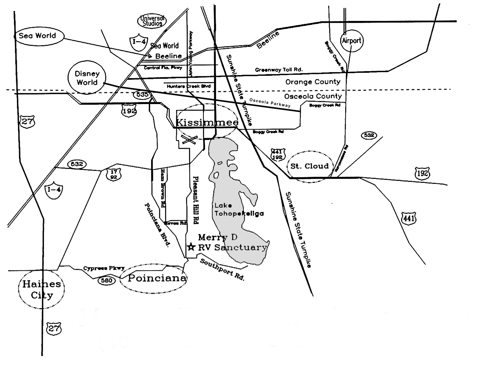 Maps Of The Merry D Rv Sanctuary In Kissimmee Fl