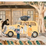 'Leaving Home' Murakami Family packing up to go to Tule Lake concentration Camp. Exclusive to 'Jimmy Murakami - Non Alien'