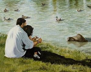 feeding-ducks-with-my-daddy-al-molina