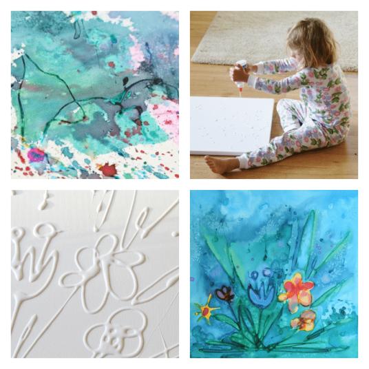 glue canvas DIY art