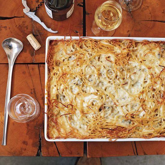 intensely cheesy baked spaghetti, Baked Four-Cheese Spaghetti