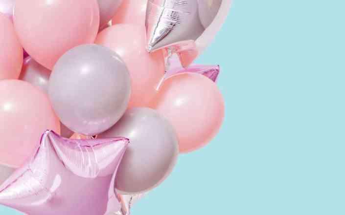 neon color balloons
