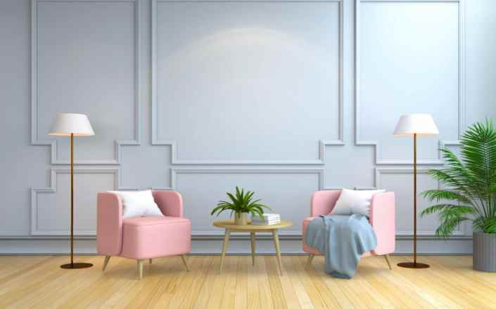 pink modern beautiful furniture