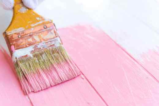 pink paintbrush wood picture