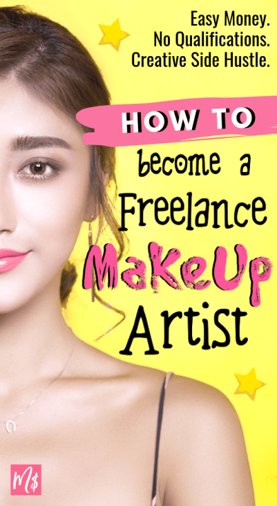 Make more money or add on a new creative and fun side hustle by becoming a freelance makeup artist, mua career, makeup artist