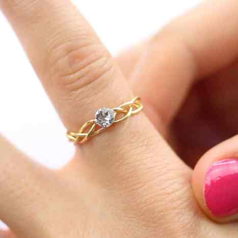 golden rings craft to make without tools