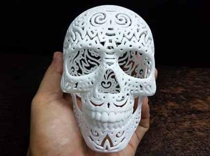 3d printing skull plans