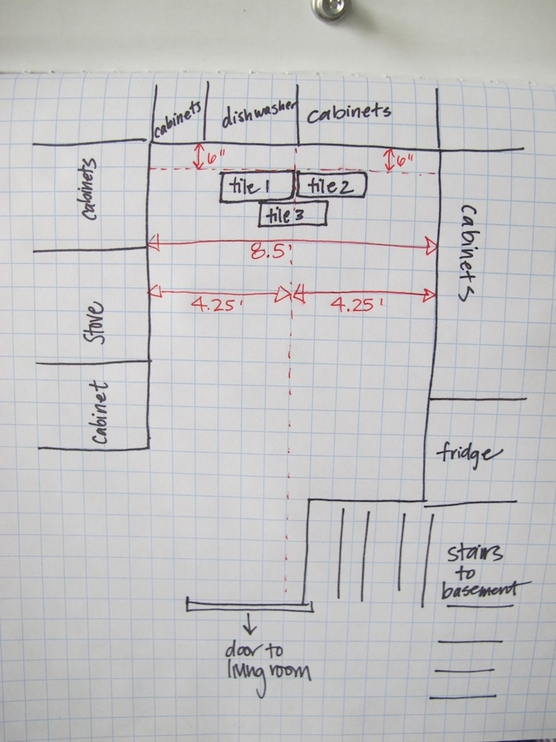 medium resolution of planning the kitchen floor tile placement