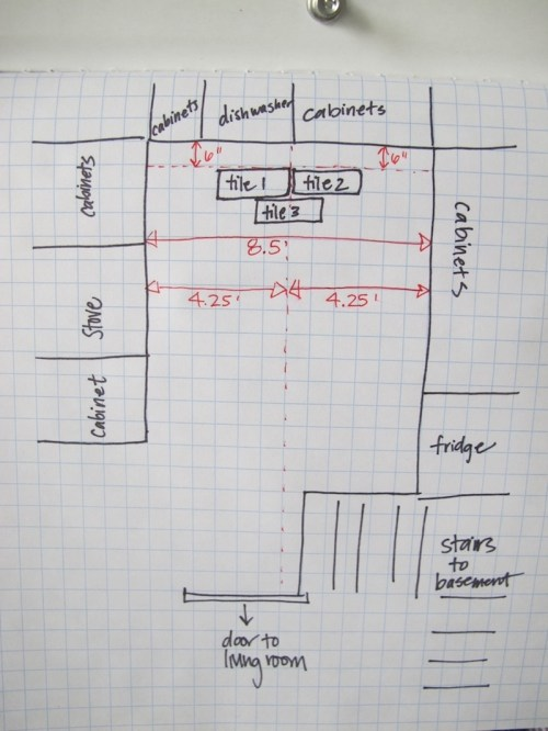 small resolution of planning the kitchen floor tile placement