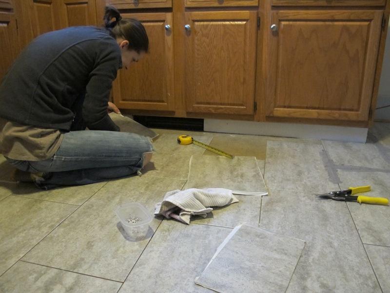 installing a kitchen vinyl tile floor