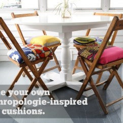 Folding Chair With Cushion Kreg Jig Adirondack Plans Anthropologie Inspired Cushions Merrypad Go Head Pin Your Little Heart Out
