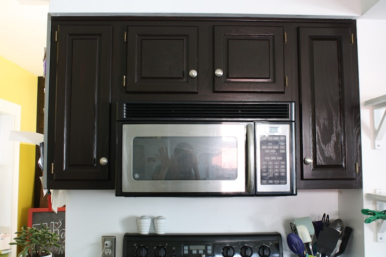 how to refinish stained wood kitchen cabinets reclaim paint oak with stain (the big reveal ...