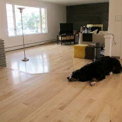 Images Of Wood Floors In Living Rooms Open Plan Kitchen Room Small Installing Maple Hardwoods The Merrypad Great Light
