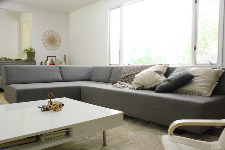 west elm dunham sofa reviews sectional fabric sofas an honest review of tillary merrypad the in our modern home