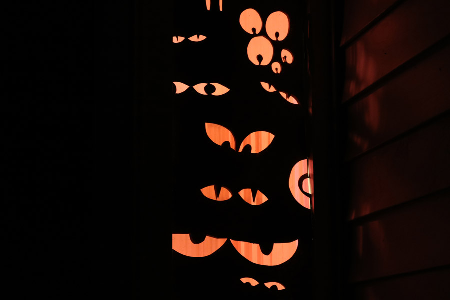 Halloween Window Eyeball Decorations