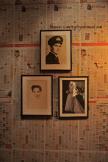 the bathroom wall - matrimonial wallpaper