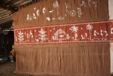 the warli artist's home...