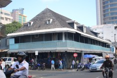 Old buildings in the bazaar or market