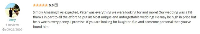 Amy Hellinga WeddingWire Review-Gleam