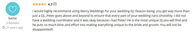 Holly McCall WeddingWire Review-Gleam