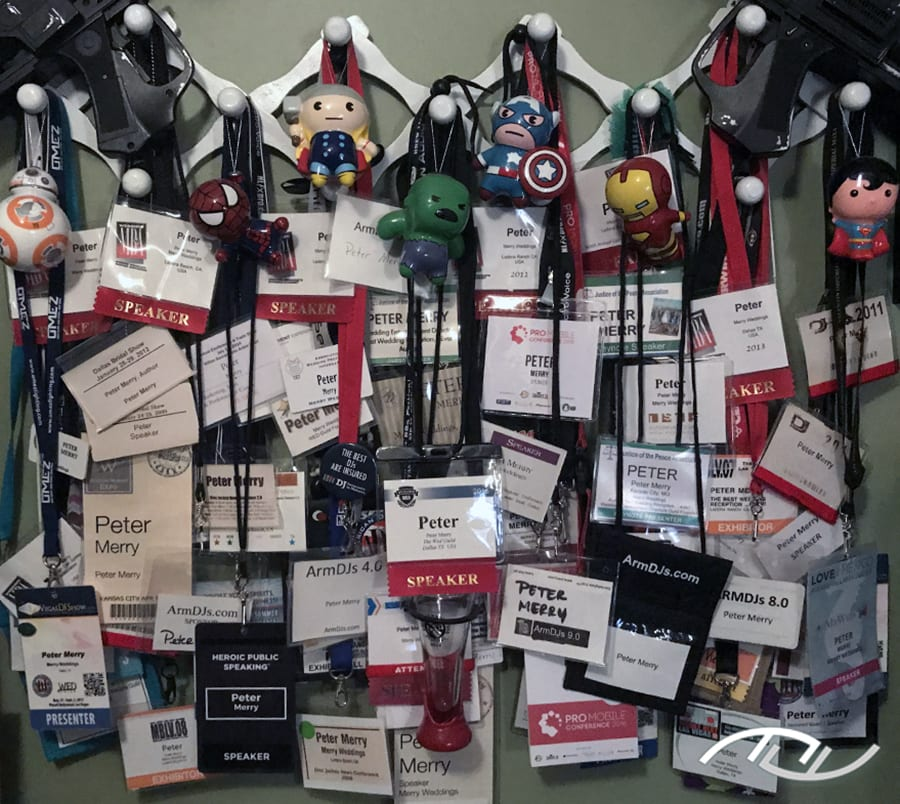 My DJ Conference & Wedding Pro Conference Badges Since 2000