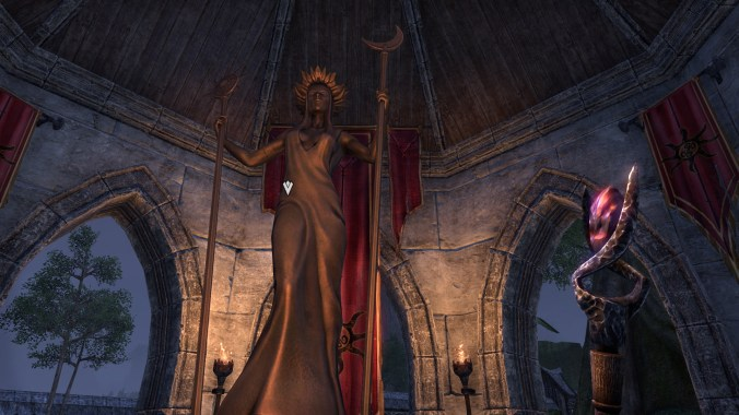 Statue of Azura in Laeloria.
