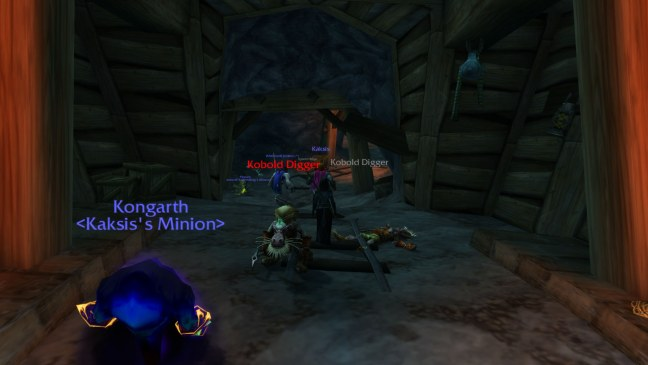 Here i am, in a 12-year-old MMORPG, competing for mobs in a beginner zone.