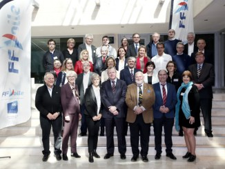 Election Nicolas Henard, new President FFV (Federation Francaise de Voile) in Paris, on March 25, 2017 -