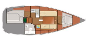 plan interieur sun odyssey 319