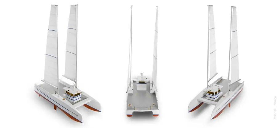 Listao, un catamaran à voile pour les professionnels
