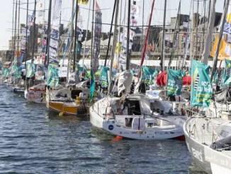 bateaux au depart de la route du rhum
