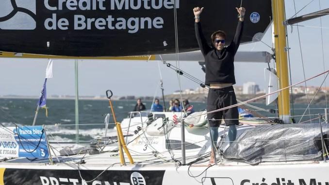 Sebastien Simon (Bretagne CMB Performance) vainqueur de la Solitaire URGO Le Figaro 2018 - Les 24h Vendee Massif Marine - Saint Gilles Croix de Vie le 14/09/2018