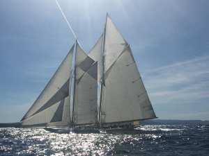 yacht sur la transat classique
