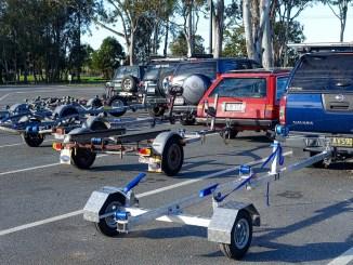 voitures avec remorques bateau