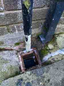blocked drain that has been cleared